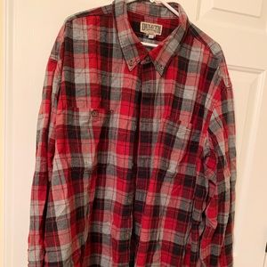 Duluth Trading Red Plaid Flannel Shirt